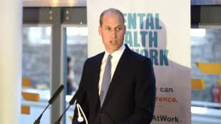 Prince William talking about mental health issues