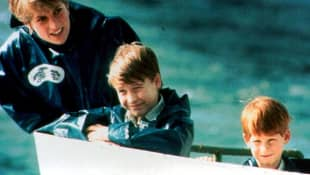 Princess Diana, Prince William, Prince Harry Boat