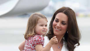 Duchess Catherine with her beautiful daughter, Princess Charlotte
