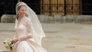 Duchess Kate on her wedding day