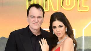 Quentin Tarantino and Daniella Tarantino at the Once Upon a Time... In Hollywood UK premiere in 2019