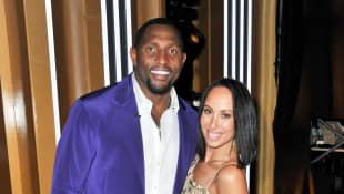"Ray Lewis and Cheryl Burke attend the ""Dancing With The Stars"" Season 28 show at CBS Television City on September 16, 2019"