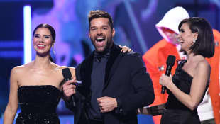 Ricky Martin, Roselyn Sánchez and Paz Vega