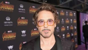 Robert Downey Jr. on the red carpet for the Avengers: Endgame premiere