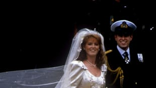 Sarah Ferguson and Prince Andrew on their July 23rd, 1986 wedding day.