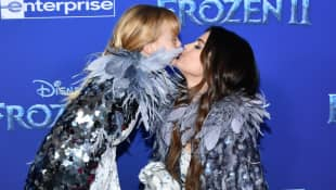 Selena Gomez and her sister Gracie attend the Frozen 2 premiere on November 7th, 2019