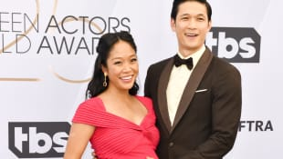 Shelby Rabara and Harry Shum Jr. at 25th Annual Screen Actors Guild Awards on January 27, 2019, in Los Angeles, California.