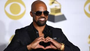 Shemar Moore poses in the press room during the 60th Annual Grammy Awards on January 28, 2018, in New York.