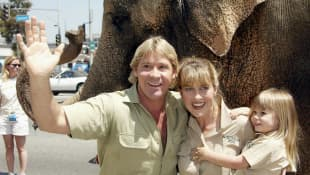Steve Irwin, Terri Irwin and Bindi Irwin