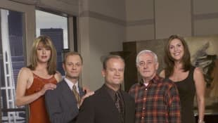 "The cast of ""Frasier"" in 2001 Grammer Mahoney Gilpin Hyde Pierce"