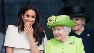 Meghan, Duchess of Sussex and Queen Elizabeth II open the new Mersey Gateway Bridge