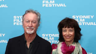 The Thorn Birds stars Bryan Brown and Rachel Ward were evacuated from their home.