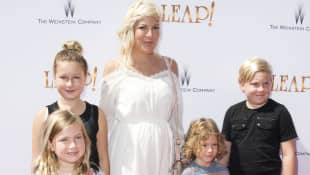 Tori Spelling and her kids