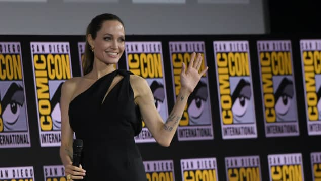 Angelina Jolie at the 2019 Comic Con in San Diego.