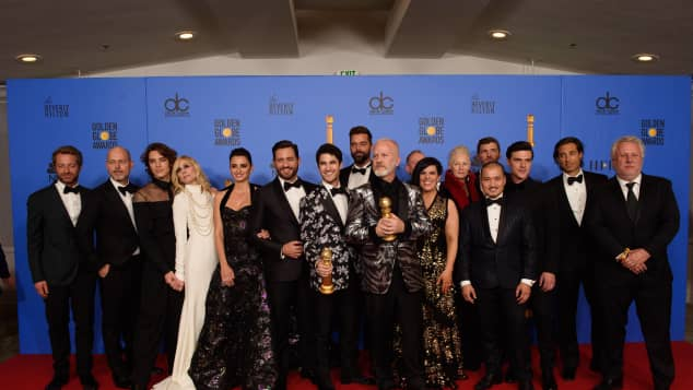 """The cast of """"The Assassination of Gianni Versace: American Crime Story"""" at the 76th Golden Globes"""