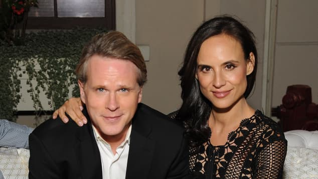 Actor Cary Elwes and his wife Lisa Marie Kubikoff in 2015.