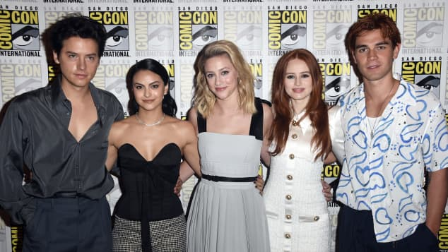 "The cast of ""Riverdale"" at 2019's Comic Con in San Diego."