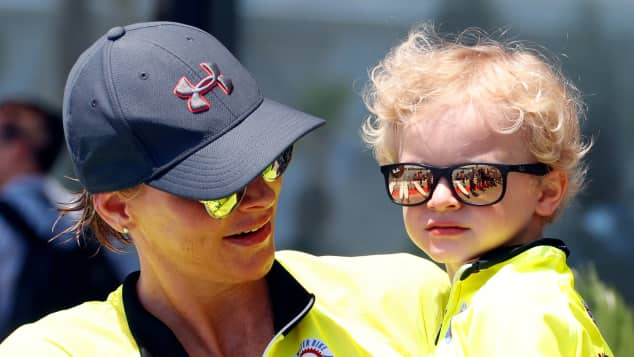Princess Charlene of Monaco with her son Prince Jacques