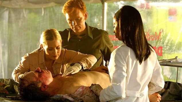 David Caruso, Khandi Alexander and Emily Proctor in 'CSI: Miami '