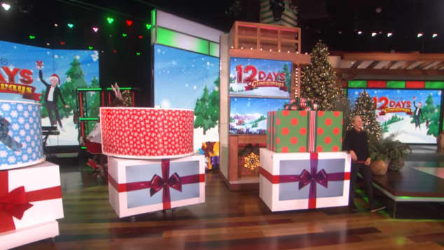 Ellen in her 12 Days of Giveaways Show