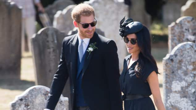 Meghan and Harry attend  Charlie van Straubenzee and Daisy Jenks's Wedding