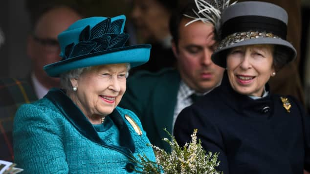 Queen Elizabeth II and Princess Anne attend the annual Braemar Highland Gathering