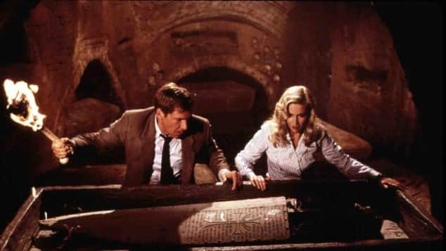 "Harrison Ford und Alison Doody in ""Indiana Jones"""