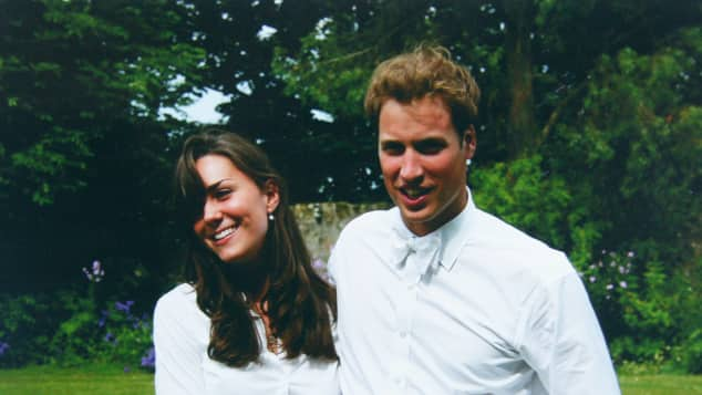 Kate Middleton and Prince William when they were still at St. Andrews University.