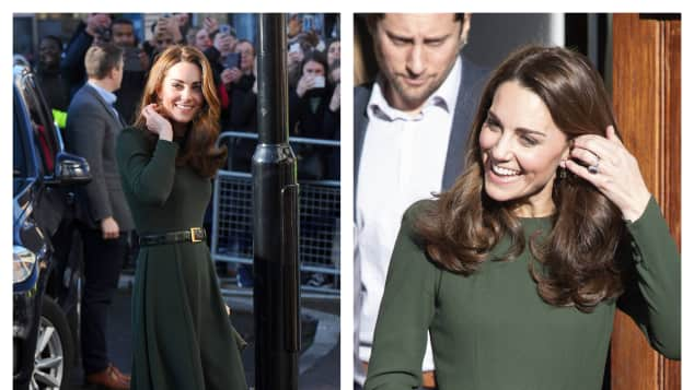 Kate wearing a beautiful green dress by ethical fashion brand Beulah