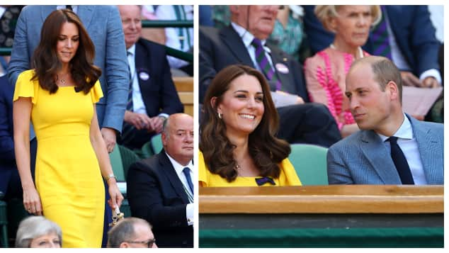 Duchess Catherine attends the Men's Singles final at Wimbledon