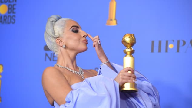 Lady Gaga at the 76th Golden Globes