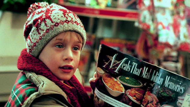 "Macauley Culkin in the film, ""Home Alone"""