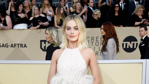 Margot Robbie at the SAG Awards in 2018