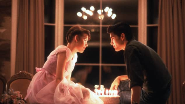 Molly Ringwald and Michael Schoeffling in 'Sixteen Candles'