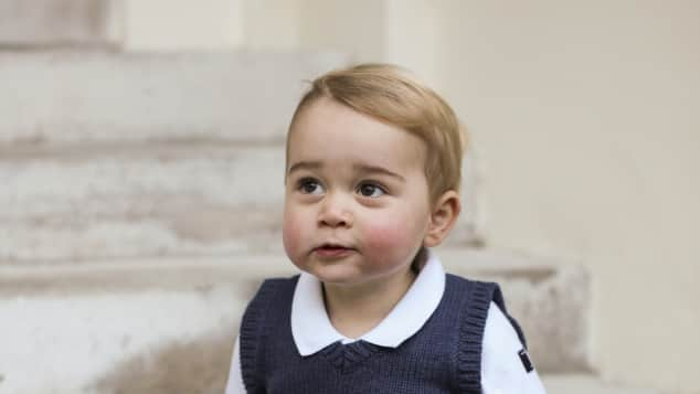 Prince George on Christmas in 2014