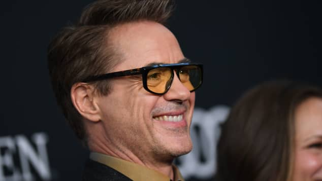 "Robert Downey Jr. arrives for the World premiere of Marvel Studios' ""Avengers: Endgame"" at the Los Angeles Convention Center on April 22, 2019 in Los Angeles"