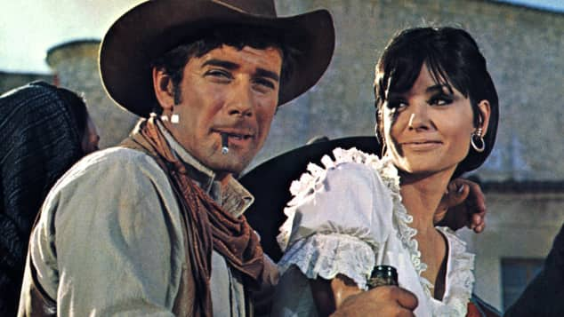 "Robert Fuller and Elisa Montes in ""Return of the Magnificent Seven"""