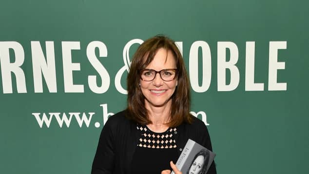 "Sally Field with her new book ""In Pieces"""