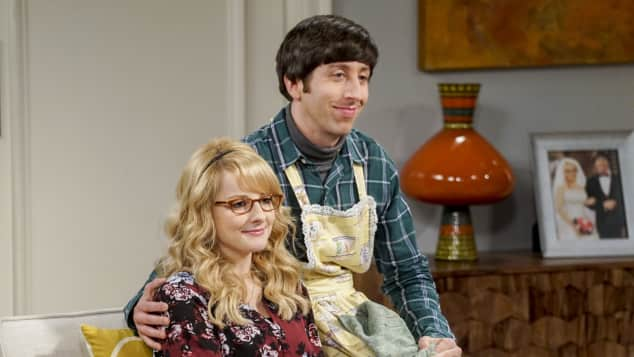 "'The Big Bang Theory' characters ""Howard"" and ""Bernadette""."