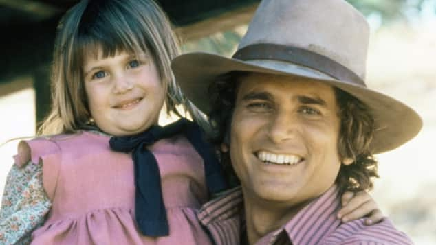 Sydney Greenbush and Michael Landon