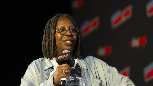 Whoopi Goldberg giving a speech