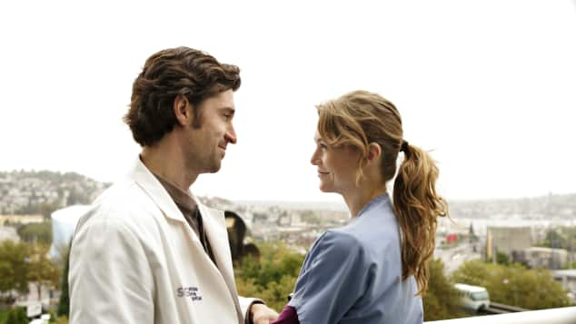 Patrick Dempsey and Ellen Pompeo in Grey's Anatomy