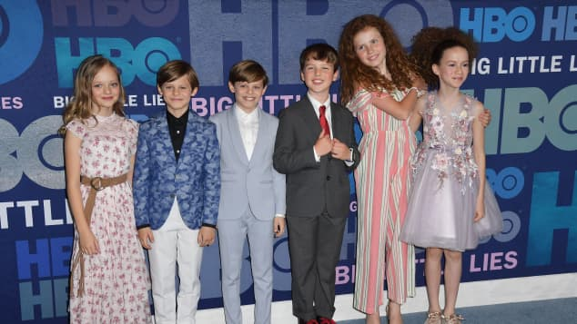 The cast of kids of Big Little Lies at the Season 2 Premiere