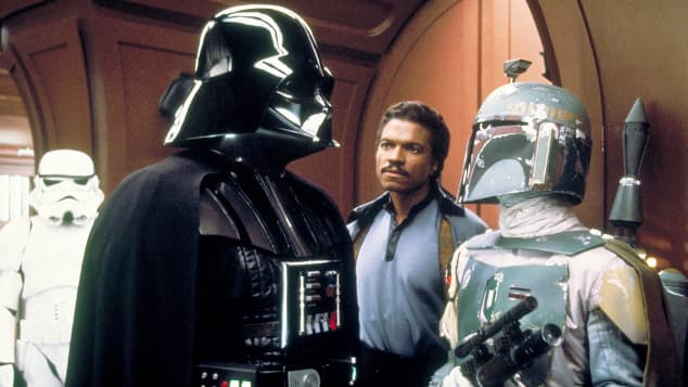 "Billy Dee Williams as ""Lando"" in The Empire Strikes Back."