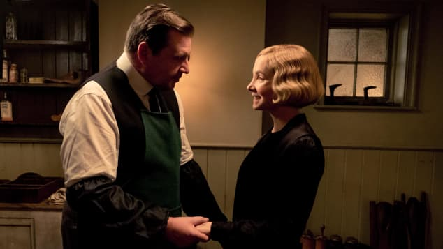 Brendan Coyle and Joanne Froggatt in Downton Abbey.