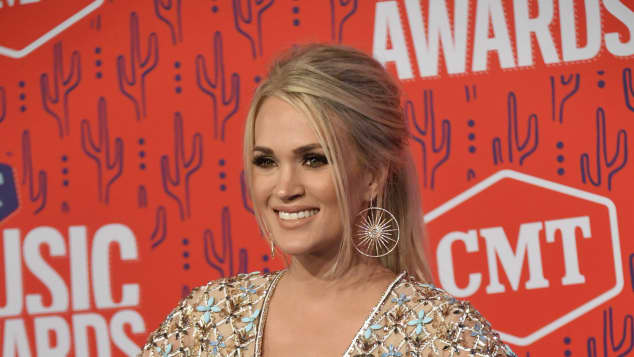 Carrie Underwood on the red carpet at the 2019 CMT Music Awards in Nashville, Tennessee.