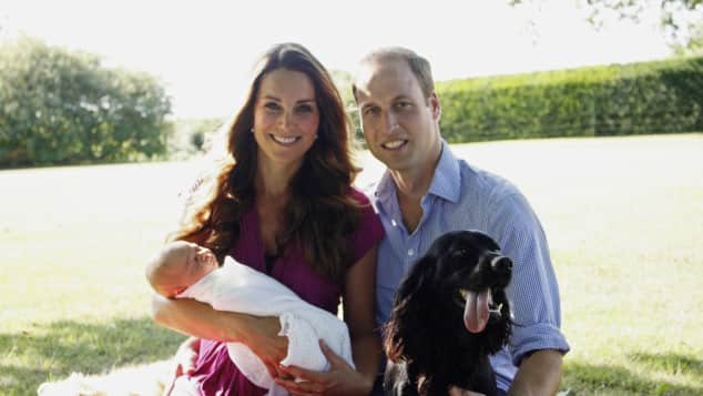 Duchess Catherine, Prince William, Prince George, Lupo and Tilly