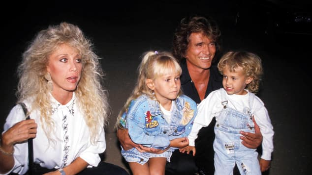 Cindy Clerico, Jennifer Landon, Michael Landon and Sean Landon in 1989.