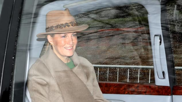 The Countess of Wessex attends a church service with the Queen