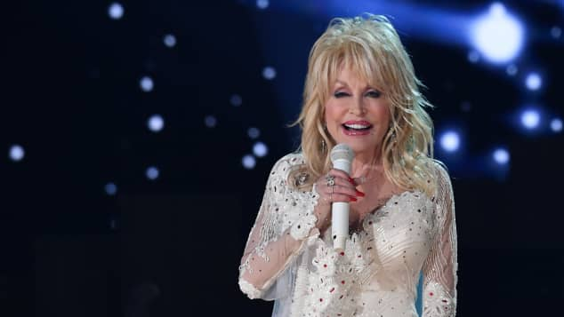 Dolly Parton on stage at the 2019 Grammy Awards.